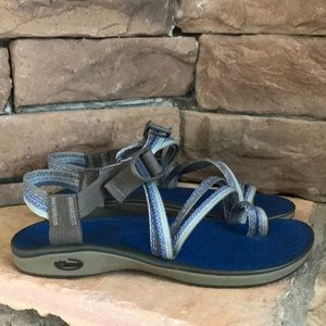 CHACO ZX2 sandals / blue and gray / SZ 8